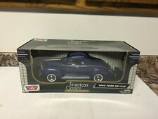 Motor Max Diecast 1/18 American Classics Premiere 1940 Ford Deluxe Coupe