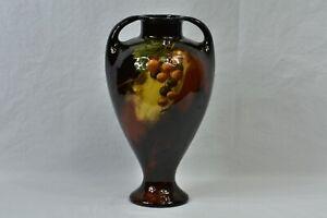 Weller Pottery 1898-1910 Aurelian Grapes on Vine Handled Vase #536 0 K