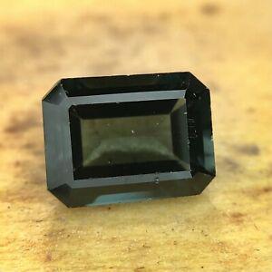 Indicolite Natural Blue Tourmaline Loose Gemstone 1.41CTS Gemologist Verified
