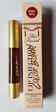 2 di Too Faced Labbro Iniezione di colore BOMBA umidità Plumping Lip Tint più grande Berry