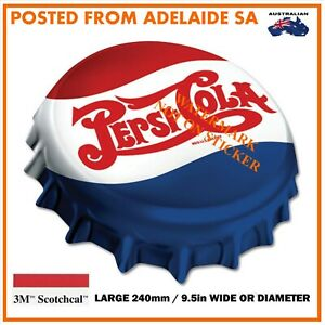 NEW PEPSI CROWN  STICKER X-LARGE 240mm DIA / WIDE HOT ROD SPEED