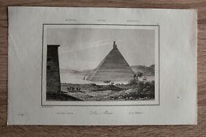 1839 print LAKE MOERIS (QARUN), FAIYUM OASIS, EGYPT (#21)
