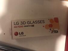 LG AG-F200 3D Glasses - 2 Pairs - LG Cinema LG 3D LED HDTVs, new in open box