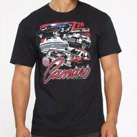 Chevrolet Muscle Car Garage 3 Cars BLACK Adult T-shirt GM