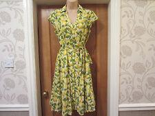 TU SIZE 18 lemons print vintage 50s land girl style summer tea dress