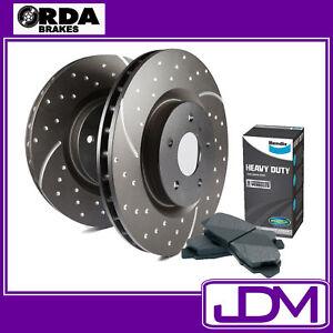 NISSAN NAVARA D40 2WD & 4WD - RDA Front Brake Discs & BENDIX HD Pads