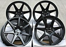 "ALLOY WHEELS 18"" 5X114.3 18 INCH ALLOYS 7 SPOKE BLACK LIGHTWEIGHT CRUIZE Z1 MB"
