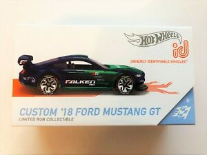 Hot Wheels ID 2018 Ford Mustang GT Limited Edition FXB02-999Q Diecast 1/64