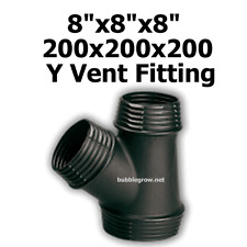 """8""""X8""""x8"""" 200X200X200 Y DUCTING PIECE JOINER AIR COOLING VENTILATION FAN DUCT FIT"""