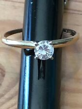 0.33CT NATURAL SOLITAIRE ROUND CUT DIAMOND ENGAGEMENT RING 14K GOLD w/Appraisal