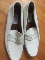 Vintage 2006 A. Testoni White Suede Penny Loafers Size 13