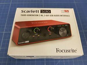 Focusrite Scarlett Solo 3rd Gen USB Interface - MOSC0024