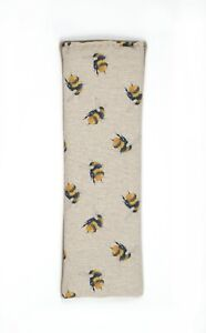 Bee design Microwavable Unscented Wheat bag handmade in the UK  relaxing