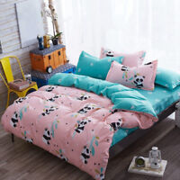Cute Panda Duvet Cover Bed Sheets Pillow Covers Bedding Set Full King Queen