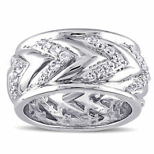 Amour Men's White Sapphire Ring in Sterling Silver