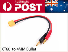 XT60 LiPo Battery Charging Cable to 4mm Bullet/Banana Plugs Leads XT-60