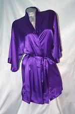 Small / Medium~ Victorias Secret Sexy Satin Purple Robe Kimono Spa Wrap~NWT