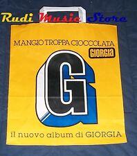BUSTA SACCHETTO CARTA PROMO GIORGIA MANGIO TROPPA CICCOLATA 31X27 no cd dvd lp