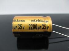 JAPAN 2PCS Nichicon  FW 2200uf  35V 2200mfd Audio Capacitor