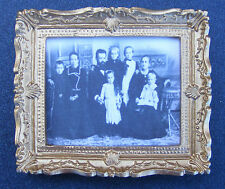 1:12 Scale Framed Picture Print Of A Victorian Family Dolls House Miniature Art