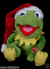Kermit Frog Musical Singing Jingle Bells Christmas Plush See Video Disney