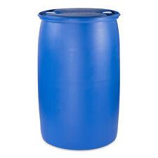 200 L Fass Spundfass Regentonne Behälter Regenwasserfass Plastikfass blau.