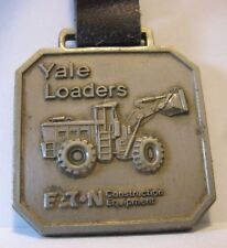 YALE Wheel Loader Pocket Watch Fob w/Strap E T N CONSTRUCTION EQUIPMENT Vintage