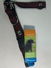 "RC Pet Products Easy Clip Web Training Dog Collar Red Plaid 19""-26"" 65905229 New"