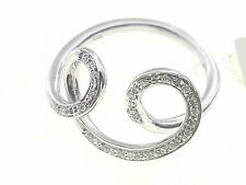 Anello Donna Oro Bianco 18 kt Carati 750 Gr 4,70 Diamanti Ct 0,08