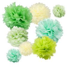 "Paper Tissue Pom Poms Assorted Color Pack 8"" 10"" 12"" 14"" 16"" Decorations Flower"