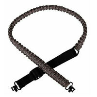 "Adjustable Paracord Gun Sling Strap with 1"" Swivels Camo Hunting Accessories"