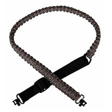 """Adjustable Paracord Gun Sling Strap with 1"""" Swivels Camo Hunting Accessories"""