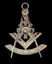 Past Master Silver Tone Jewel For Masonic Collar Regalia Freemason Pendent