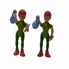 "2pcs 2.5"" DISNEY PETER PAN PVC FIGURE ANIMATED CARTOON Figure Toy Xmas Gift"