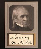 James K. Polk 2020 President ACEO Portrait D.Gordon Replica Autograph Card