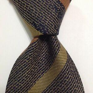GIORGIO ARMANI Cravatte Silk Necktie ITALY Designer STRIPE Blue/Green/Orange GUC
