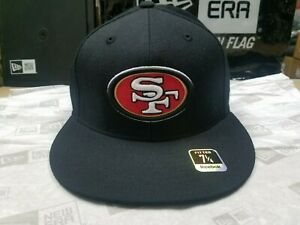 NFL San Francisco 49ers Team Logo Black 59Fifty Style Fitted Cap Reebok Hat