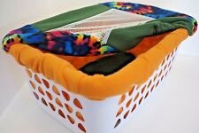"""Whelping Laundry Basket Fleece Coordinating Cover and Liner Set """"Dark Tie Dye"""""""
