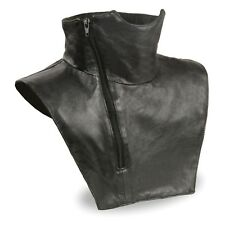 Unisex Premium Leather Neck Warmer W/ Zipper Closure & Fleece Liner  **SH165