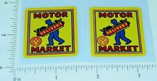 Marx Motor Market Delivery Truck Stickers        MX-023