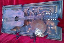 Guitar 3D WESTERN ART  title - RESTLESS deco studio acoustic unique  Country