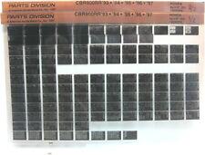 Honda CBR900RR 1993 - 1997 Parts List Microfiche h342