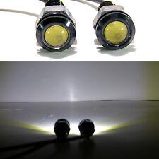 (2) White LED SMD Motorcycle & Car License Plate Screw Bolt Light lamp bulb 12V
