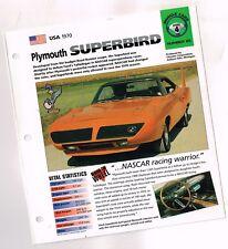 1970 PLYMOUTH HEMI SUPERBIRD IMP Brochure