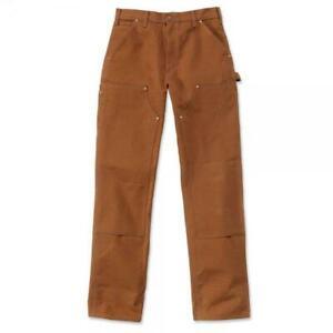 Carhartt EB136 Bundhose Dungaree Double Front Pant Streetwear Outdoor Braun