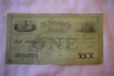 More details for st saviour's bank (jersey) one £1 pound banknote 17th january 1832 no 170 rough!