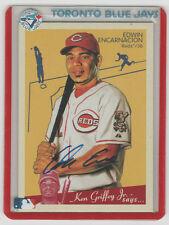EDWIN ENCARNACION 2008 Goudey Graps Autograph ON CARD AUTO w/ Indians holder