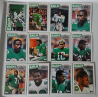 1987 Topps Philadelphia Eagles Team Set of 12 Football Cards