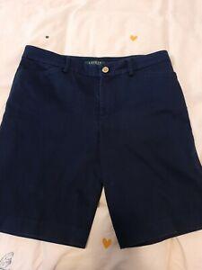 """Ralph Lauren Shorts Navy Blue Waist 31/32"""" Mens"""