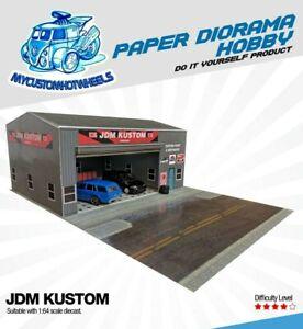 1:64 Scale JDM KUSTOM Garage Workshop - Diorama Building Kit for Hot Wheels